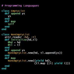 Programming Languages, Part C