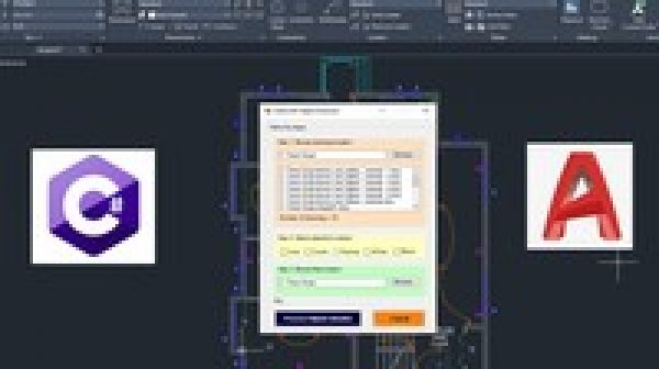 AutoCAD Programming using C# with Windows Forms